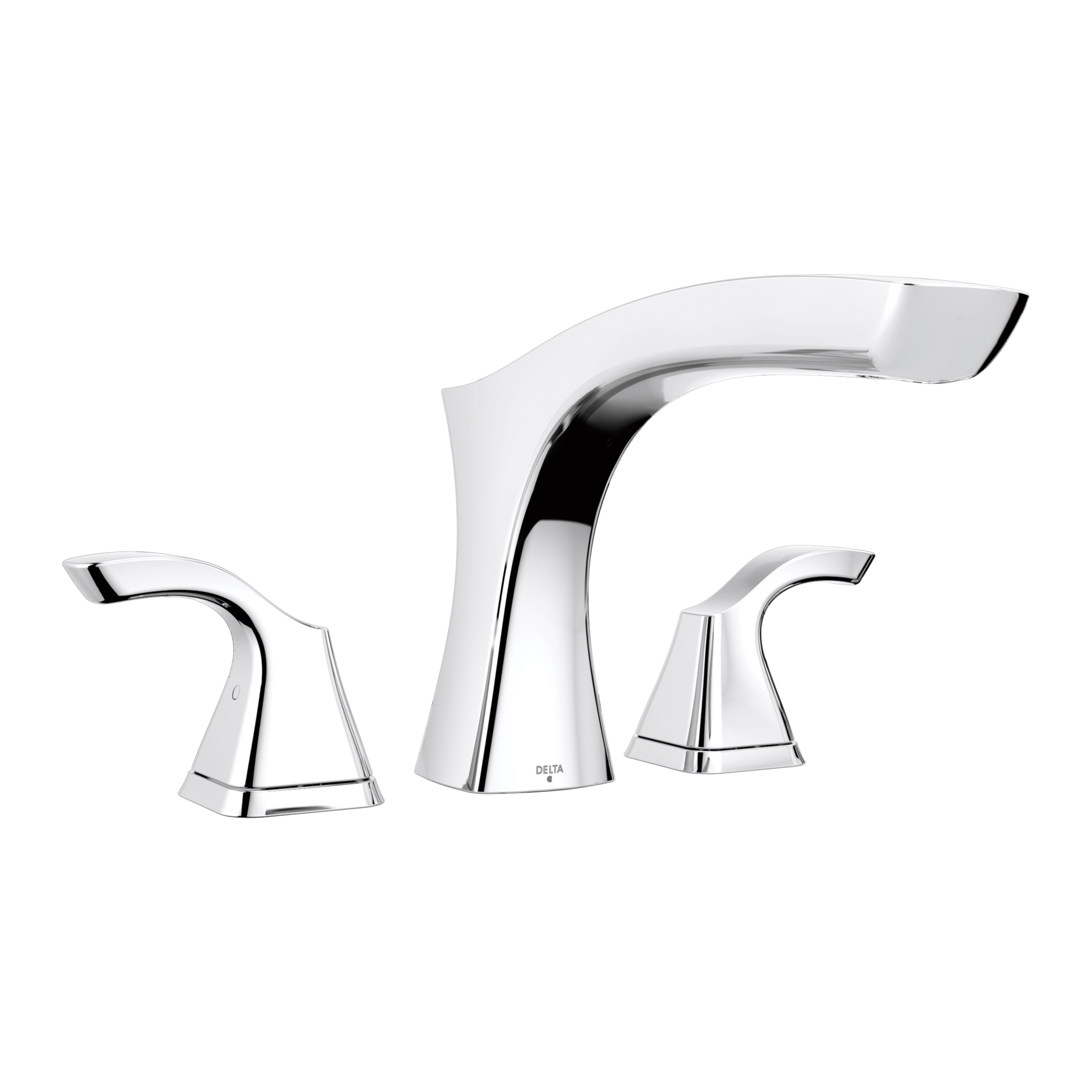 DELTA® T2752 Tesla® Roman Tub Trim, 2 gpm, 8 to 16 in Center, Chrome Plated, 2 Handles, Hand Shower Yes/No: No, Domestic, Commercial