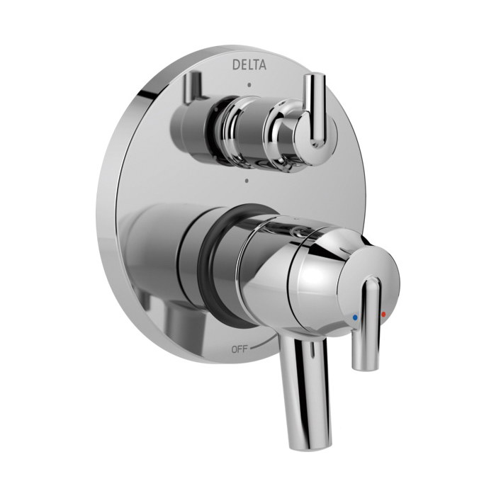 DELTA® T27959 Monitor® 17 6-Setting Contemporary Valve Trim, Chrome Plated