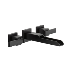 DELTA® T3568LF-BLWL Ara® Lavatory Faucet Trim Without Pop-Up Drain, 1.2 gpm, 8 in Center, 2 Handles, Matte Black, Import