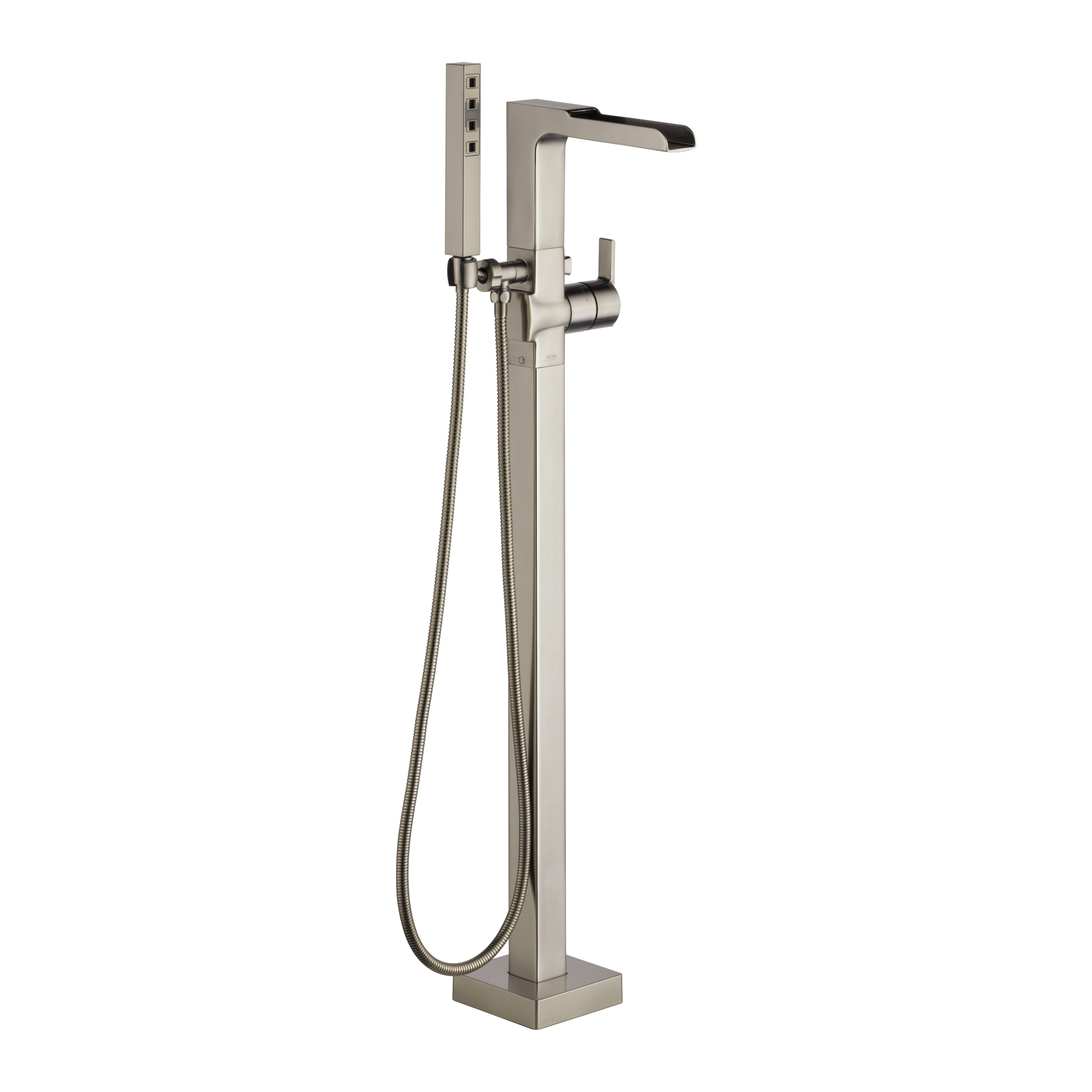 DELTA® T4768-SSFL Ara® Tub Filler, 2 gpm, Brilliance® Stainless Steel, 1 Handles, Hand Shower Yes/No: Yes, Domestic, Commercial