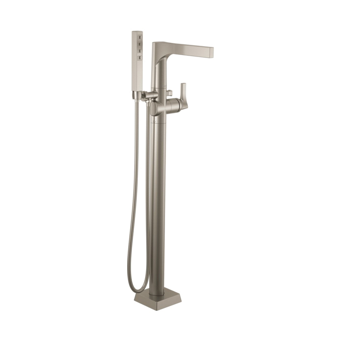 DELTA® T4774-SSFL Zura™ Tub Filler, 2 gpm, Brilliance® Stainless Steel, 1 Handles, Hand Shower Yes/No: Yes, Domestic, Commercial
