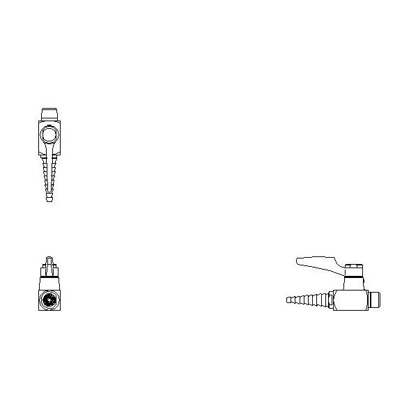 DELTA® W6200GAS Ball Valve Hose Cock, 1 Handle, Chrome, Import, Commercial