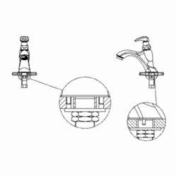 DELTA® 87T105 TECK® Mixing Metering Handwash Faucet, 0.5 gpm, 2.7 in H Spout, 1 Handle, Chrome Plated, Import, Commercial