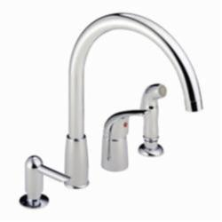 Consolidated Supply Co Peerless By Delta P188900lf Sd Widespread Kitchen Faucet 1 8 Gpm 1 Handle Chrome Plated Import