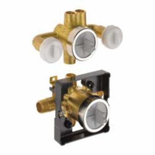 DELTA® R18000-XOWS Jetted Shower™ 6-Setting Rough Valve Body With Stops, For Use With T18017-XO Diverter Trims, Brass