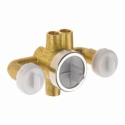 DELTA® R1827-XO Jetted Shower™ Rough-In Module With Extra Outlet, For Use With T1837/T18037-XO/T1817/T18017-XO Diverter Trim, Brass, Chrome Plated, Domestic