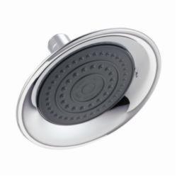 DELTA® RP61181 Single-Setting Raincan Shower Head, 2 gpm, 1 Spray, 6 in Dia Head, Import