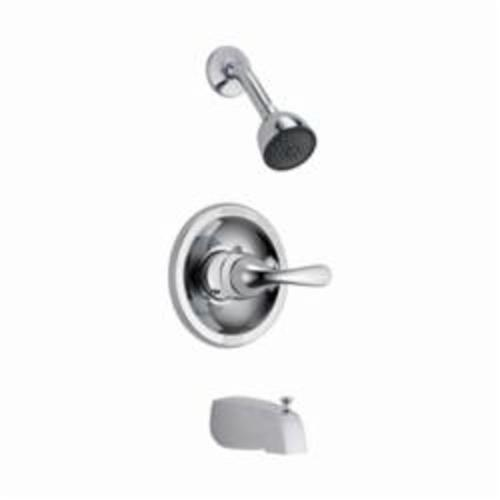 DELTA® Monitor® 13 Tub and Shower Trim, 2 gpm, Chrome Plated, 1 Handle, Pull-Up Diverter Spout, Domestic, Commercial