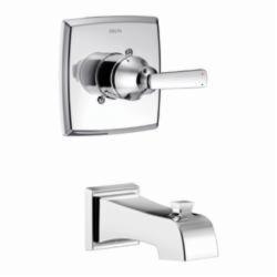 DELTA® T14164 Monitor® 14 1-Function Wall Mount Tub Trim, Ashlyn®, Chrome Plated, 1 Handles, Hand Shower Yes/No: No, Domestic, Commercial