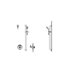 DELTA® T13H152-25 Universal Shower Valve Trim, MultiChoice®, 1.5 gpm, Polished Chrome, With Slide Bar Yes/No: Yes