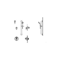 DELTA® T13H303 Universal Shower Valve Trim, MultiChoice®, 1.5 gpm, Polished Chrome