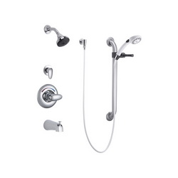 DELTA® T13H932 Monitor® 13 Universal Tub and Shower Trim, MultiChoice®, 1.5 gpm, Polished Chrome