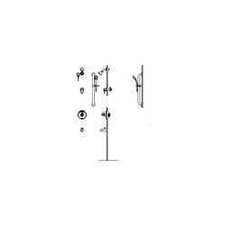 DELTA® T13H933 Monitor® 13 Universal Tub and Shower Trim, MultiChoice®, 1.5 gpm, Polished Chrome