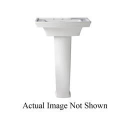 DXV D20010008.415 Wyatt® Three Hole Lavatory Slab Only, 19-11/16 in L x 24 in W x 7 in H, 8 in Faucet Hole Spacing, Import