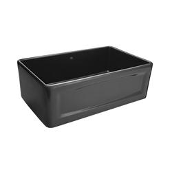 DXV D20102000.425 Hillside™ Apron Front Kitchen Sink, 30 in W x 18-1/16 in D x 10-1/8 in H, Fine Fireclay, Chenille Gray