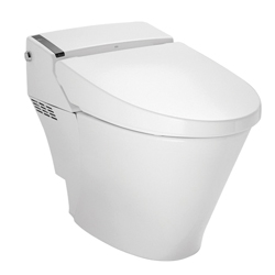 DXV D29020CS416-415 AT200® Spalet® Seat and Bowl Combo Bidet Smart Toilet, Elongated Bowl, 15-1/8 in H Rim, 1.32 to 0.92 gpf, Canvas White