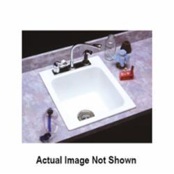 ELM® 11K Self-Rimming Utility Sink, 17 in W x 10 in D x 20 in H, Fiberglass, White