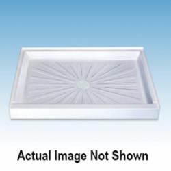 ELM® 3460M DuraBase® Single Threshold Rectangular Shower Floor, 34 in L x 60 in W, Domestic