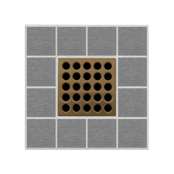 Ebbe America E4408 Shower Drain Grate, Square Pattern, 3.16 sq-in, 11 gpm, Stainless Steel/Polycarbonate