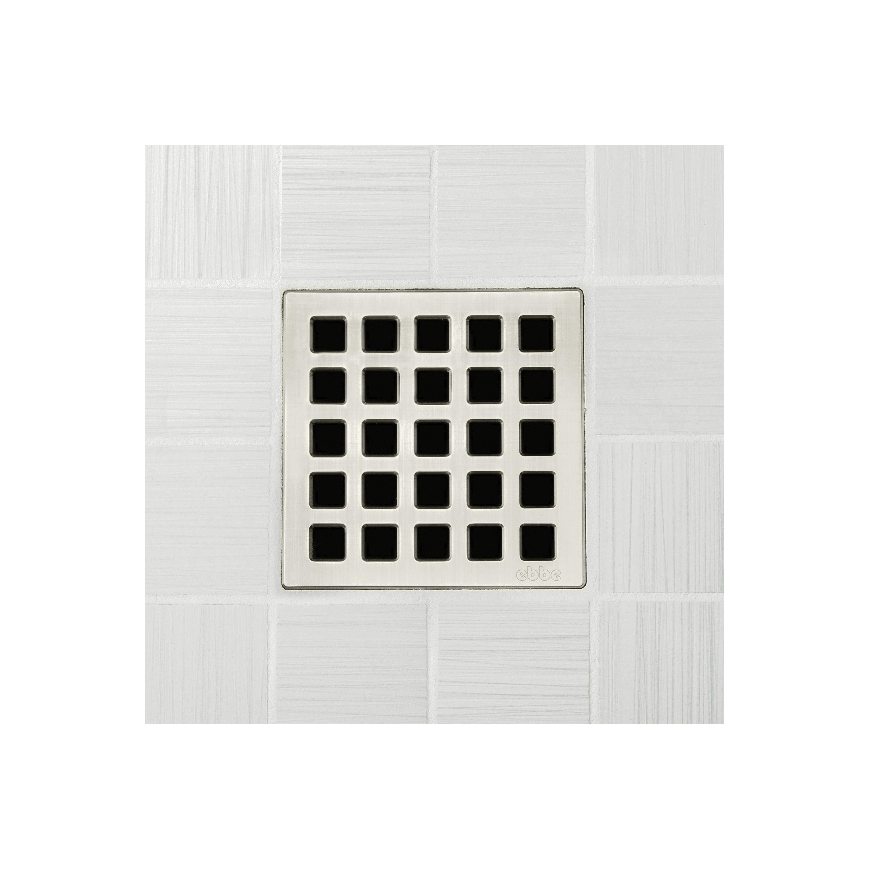 Ebbe America E4803-BN Quadra Unique Grate, Square Pattern, 4 sq-in, 304 Stainless Steel
