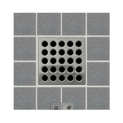 Ebbe America E4404 Drain Grate, For Use With Drain, Stainless Steel/Polycarbonate, Import