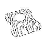 Elkay® LKWOBG1416SS Bottom Grid, 12-1/2 in L x 14-3/8 in W x 1-1/8 in H, Import
