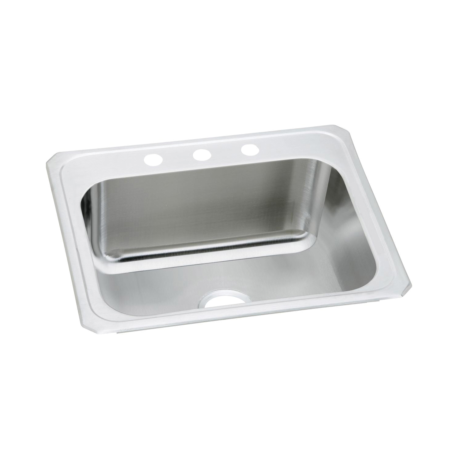 Elkay® DCR2522103 Pursuit™ Laundry Sink, Rectangular, 25 in W x 10-1/4 in D x 22 in H, Top Mount, Stainless Steel, Brushed Satin, Domestic
