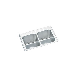 Elkay® DLR3322101 Gourmet Kitchen Sink, Rectangular, 1 Faucet Hole, 33 in W x 22 in D x 10-1/8 in H, Top Mount, Stainless Steel, Lustertone, Domestic