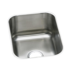 Elkay® DXUH1318 Dayton® Bar Sink, Rectangular, 20-1/2 in W x 8 in D x 16 in H, Under Mount, Stainless Steel, Radiant Satin, Domestic