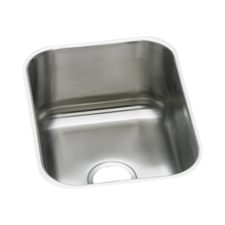 Elkay® DXUH1318 Dayton® Bar Sink, Rectangular, 20-1/2 in W x 8 in D x 16 in H, Under Mount, Stainless Steel, Radiant Satin, Domestic