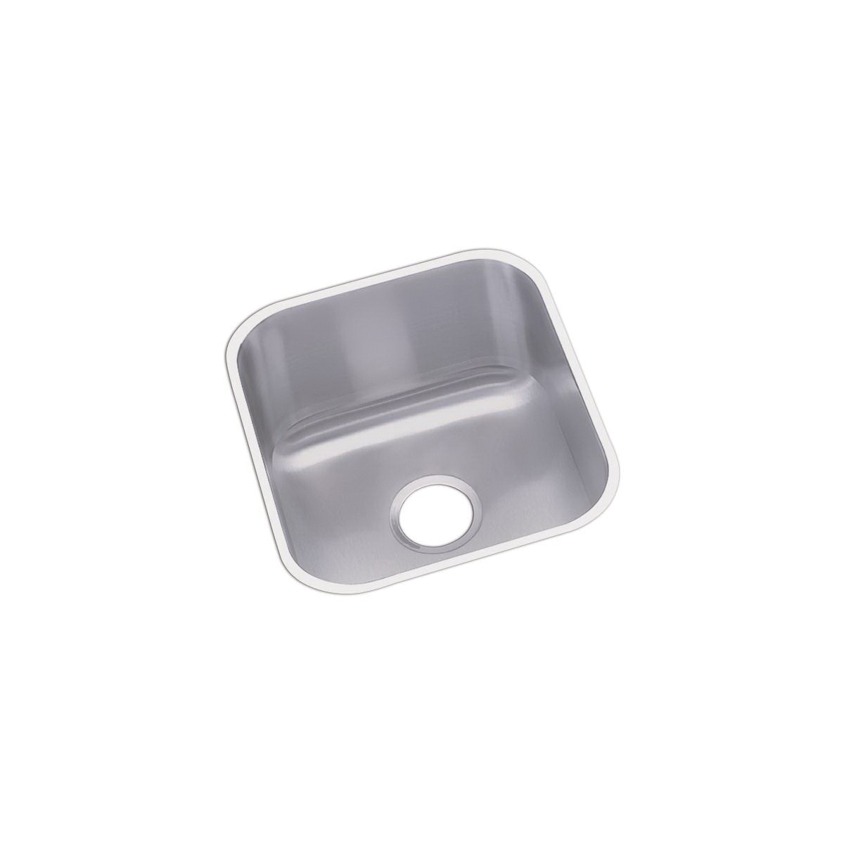 Elkay® DXUH1618 Dayton® Bar Sink, Round, 16-1/2 in W x 18-1/4 in D x 8 in H, Under Mount, Stainless Steel, Radiant Satin, Domestic