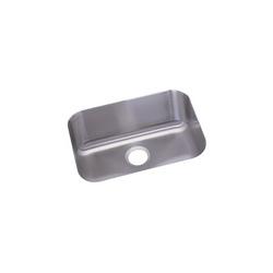 Elkay® DXUH2115 Dayton® Kitchen Sink, Rectangular, 18-1/4 in W x 8 in D x 23-1/2 in H, Under Mount, Stainless Steel, Radiant Satin, Domestic