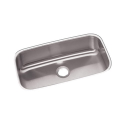 Elkay® DXUH2816 Dayton® Kitchen Sink, Rectangular, 18-1/4 in W x 8 in D x 30-1/2 in H, Under Mount, Stainless Steel, Radiant Satin, Domestic