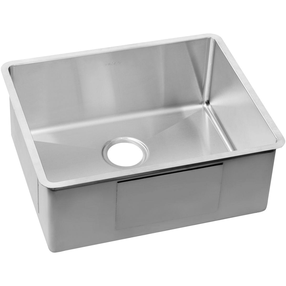 Elkay® ECTRU21179 Crosstown™ Contemporary Kitchen Sink, Rectangular, 21 in L x 17 in W x 9 in H, Undermount Mount
