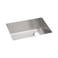 Elkay® ECTRU24179R Crosstown™ Kitchen Sink, 18-1/2 in W x 9 in D x 25-1/2 in H, Under Mount, Stainless Steel, Polished Satin, Import