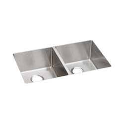 Elkay® ECTRU31179 Crosstown™ Kitchen Sink, 18-1/2 in W x 9 in D x 31-1/2 in H, Under Mount, Stainless Steel, Polished Satin, Import