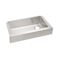 Elkay® ECTRUF30179R Crosstown™ Apron Front Sink, Rectangular, 35-7/8 in W x 20-1/4 in D x 9 in H, Apron Front Mount, Stainless Steel, Polished Satin, Import
