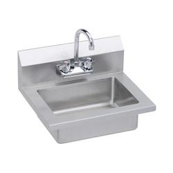 Elkay® EHS-18X Handwash Sink, Wall Mount, Buffed Satin, Import