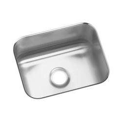Elkay® ELUH129 Bar Sink, Gourmet, Rectangular, 12 in L x 9-1/4 in W x 7 in D Bowl, 11-3/4 in L x 14-1/2 in W x 7 in D, Under Mount, 18 ga 304 Stainless Steel, Lustertone