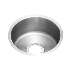 Elkay® ELUH12FB The Mystic® Kitchen Sink, 14-3/8 in W x 6 in D x 14-3/8 in H, Under Mount, Stainless Steel, Lustertone, Domestic