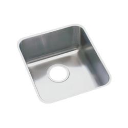 Elkay® ELUHAD131655 Kitchen Sink, Gourmet, Rectangular, 13-1/2 in L x 16 in W x 5-3/8 in D Bowl, 16 in L x 18-1/2 in W x 5-3/8 in H, Under Mount, 18 ga 304 Stainless Steel, Lustertone
