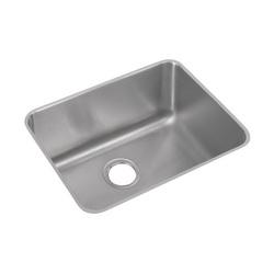 Elkay® ELUH211510 Lustertone Kitchen Sink, 18-1/4 in W x 10 in D x 23-1/2 in H, Under Mount, Stainless Steel, Lustertone, Domestic