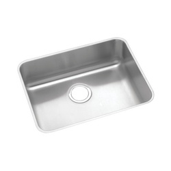 Elkay® ELUHAD211555 Gourmet Kitchen Sink, Rectangular, 18-1/4 in W x 5-3/8 in D x 23-1/2 in H, Under Mount, Stainless Steel, Lustertone, Domestic