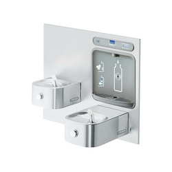 Elkay® EZWS-EDFP217K EZH2O® Non-Filtered Bottle Filling Station and Integral Soft Sides Fountain, 1.5 gpm, Sensor Operation, Non-Refrigerated Chilling, Domestic
