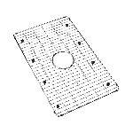 Elkay® LKBG2616SS Bottom Grid, 26-3/4 in L x 16-9/16 in W x 1-3/8 in H, Import