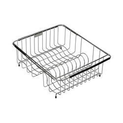 Elkay® LKWERBSS Rinsing Basket, 15-3/8 in L x 12-3/8 in W x 5-7/16 in H, Rectangular, Bright Polished, Import