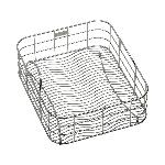 Elkay® LKWRB1316SS Rinsing Basket, 12-1/2 in L x 15 in W x 7 in H, Rectangular, Bright Polished, Import