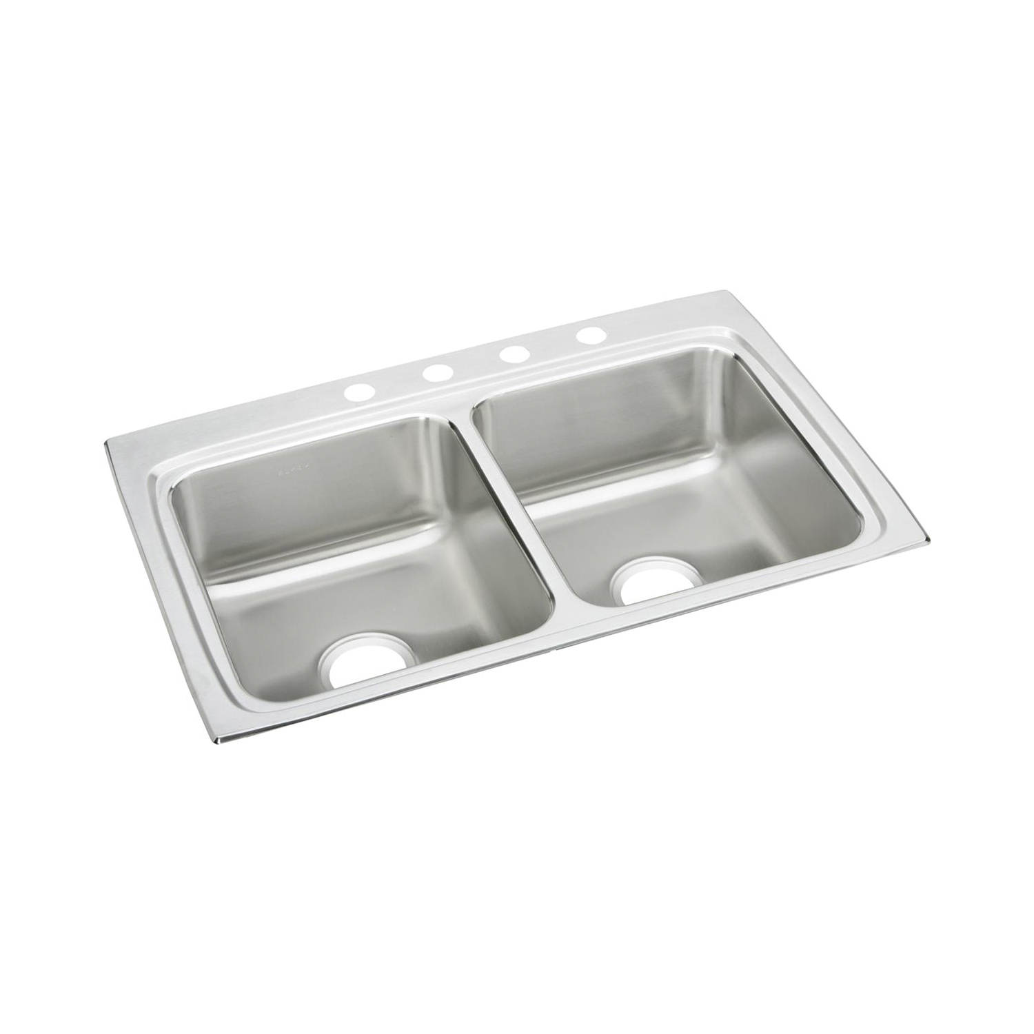 Elkay® LR33223 Gourmet Kitchen Sink, Rectangular, 3 Faucet Holes, 33 in W x 22 in D x 8-1/8 in H, Top Mount, Stainless Steel, Lustertone, Domestic