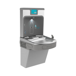 Elkay® LZS8WSLP EZH2O® Filtered Bottle Filling Station and Cooler, 1.1 gpm, Push Bar/Sensor Operation, Refrigerated Chilling, 1 Station, Domestic