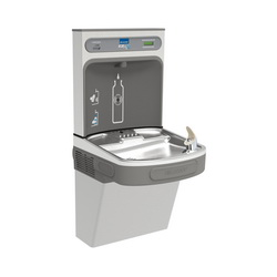 Elkay® LZS8WSSK EZH2O® Filtered Bottle Filling Station and Cooler, 1.1 gpm, Push Bar/Sensor Operation, Refrigerated Chilling, 1 Station, Domestic
